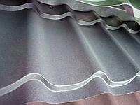 Металлочерепица МП Ламонтерра Х VikingMP полимерное покрытие, матовый 0,45 Серый 7024, фото 1