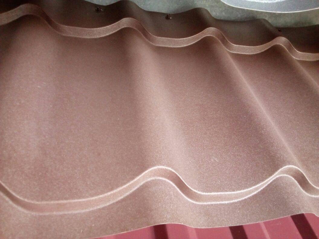 Металлочерепица МП Ламонтерра Х матовый 0,45 Коричневый  2570 тг/м2 при заказе свыше 100 м2