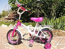 """Двухколесный велосипед Mercedes 12"""" (Розовый)"""