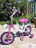 """Двухколесный велосипед Mercedes 12"""" (Розовый), фото 2"""