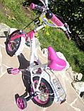 """Двухколесный велосипед Mercedes 12"""" (Розовый), фото 4"""