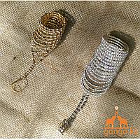 Браслет-пружина с кольцом на цепочке для руки (подростковый), 1 шт