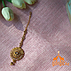 Тика - индийское украшение на голову, Золотистая, 1 шт, фото 2