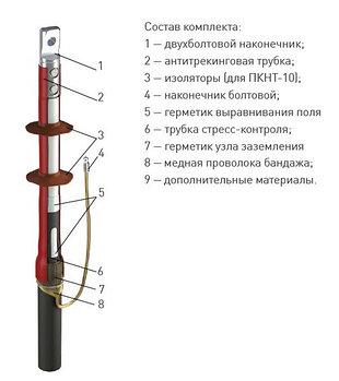 Муфта 1 ПКНТ-10 (630)  с наконечниками  (комплект на 1 фазу)