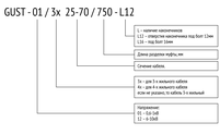 Муфта GUST-01/3х 25-70/1000-L12, фото 2