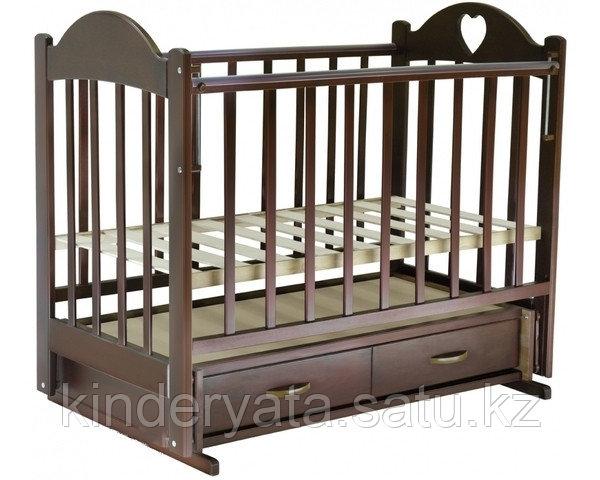 Ведрус Кроватка детская Иришка 3 (ящик, маятник, накладка)