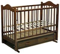 ВЕДРУС Кроватка детская Кира 4 (ящик, маятник, накладка)