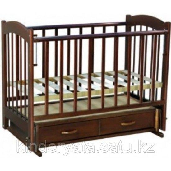 Ведрус Кроватка детская Радуга 4 (ящик, поперечный маятник, накладка)