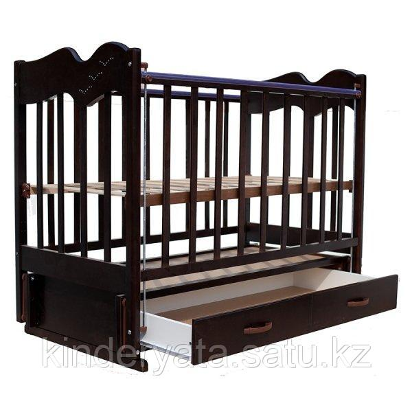 Ведрус Кроватка детская Чайка 4 (ящик, продольный маятник, накладка)