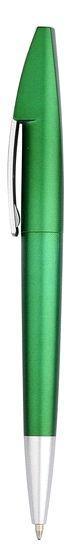 Ручка шариковая пластиковая, зеленая