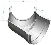 Угол желоба 135° универсальный, белый, Docke Standart, фото 1