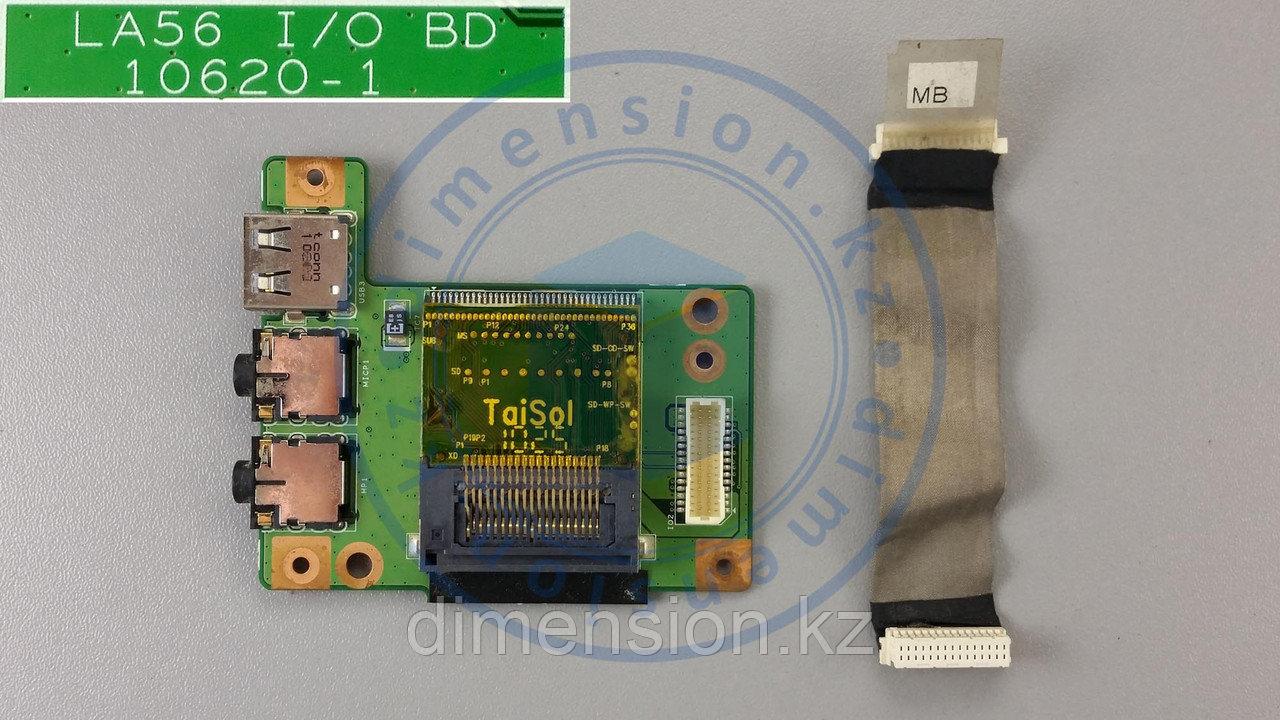USB + Audio плата, порт, разъем LA56 BD 10620-1 на  ноутбук  LENOVO B560