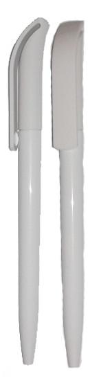 Ручка шариковая пластиковая, белая
