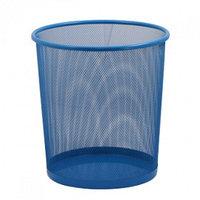 Корзина для бумаг ZiBi, круглая, синяя  h 27см d 24cм