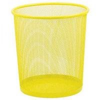 Корзина для бумаг ZiBi, круглая, желтая  h 27см d 24cм