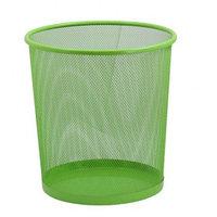 Корзина для бумаг ZiBi, круглая, зеленый  h 27см d 24cм