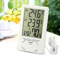Термометр с гигрометром и часами