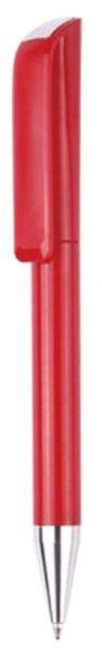 Ручка шариковая пластиковая, красная