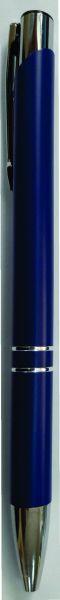 Ручка шариковая матовая, металлическая, синяя