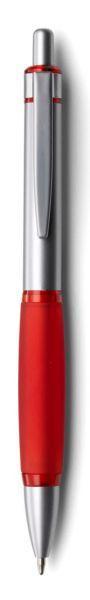 Ручки шариковые металл+силикон (красные)