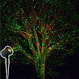 Уличная лазерная подсветка LD-2XL зеленый+красный+синий, снежинки, фото 2