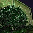Уличная лазерная подсветка LD-2XL зеленый+красный+синий, снежинки, фото 5