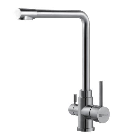 Смеситель для кухни из нержавеющей стали с подключением к фильтру с питьевой водо  LeMark Серия EXPERT LM5060S