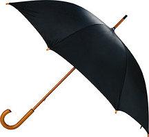 Промо зонт, трость черный