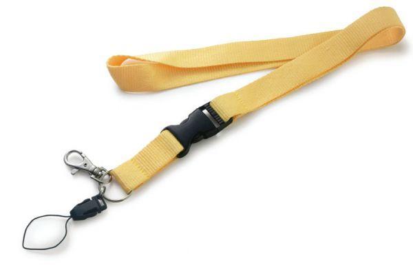 Шнур для бейджа (ланъярд) желтый