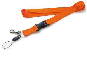 Шнур для бейджа (ланъярд) оранжевый