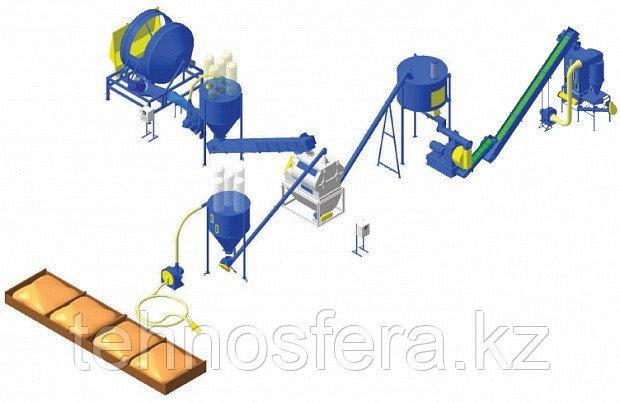 Цех производства комбикорма с добавлением сена/соломы (ЛПКГС)