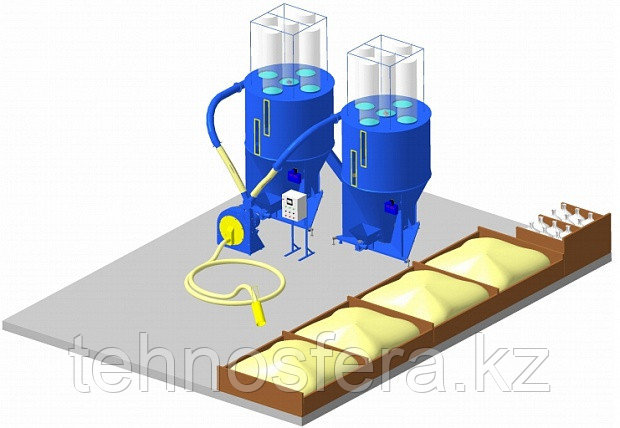Цех производства рассыпного комбикорма (КПК)