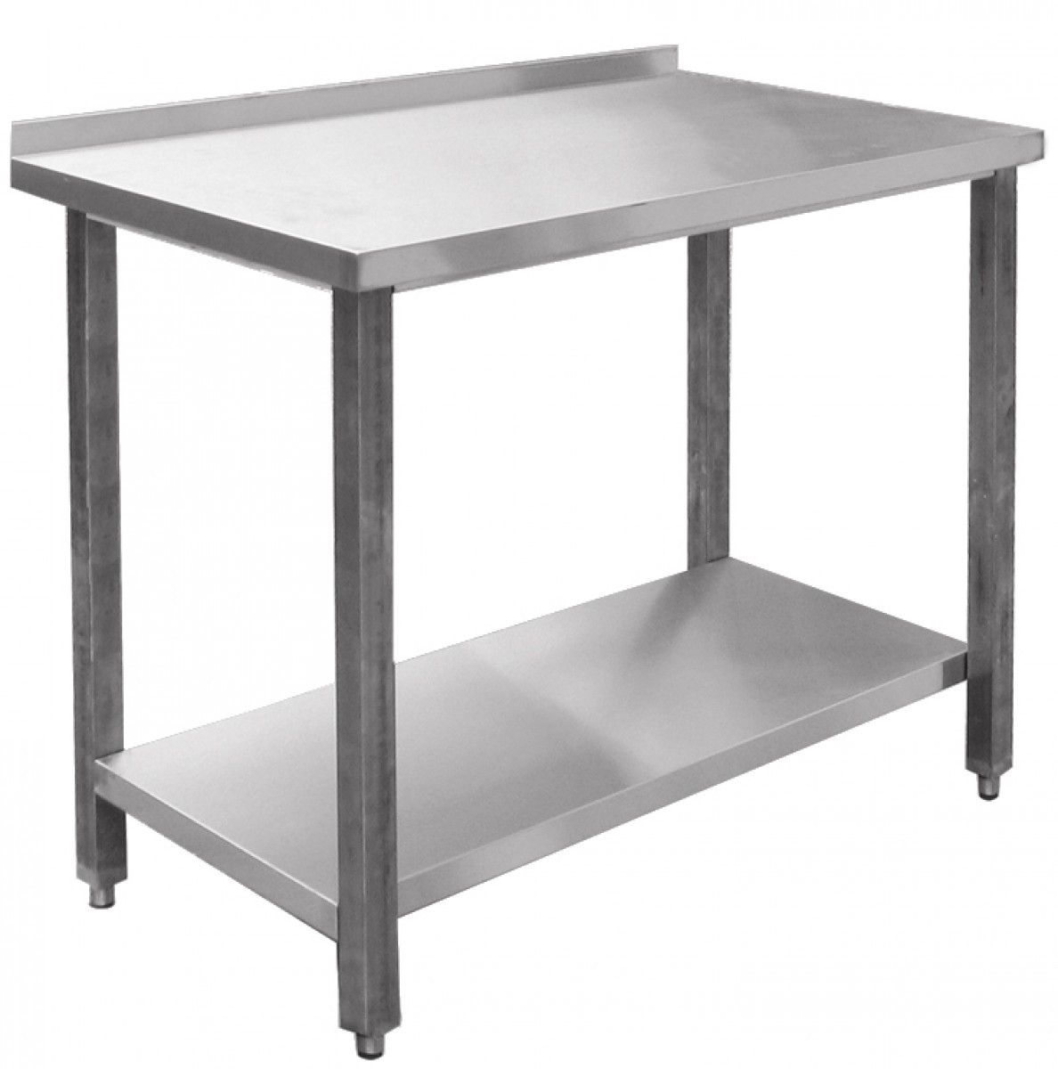 Столы производственные пристенные типа СПРП (каркас с полкой из нержавеющей стали) Abat