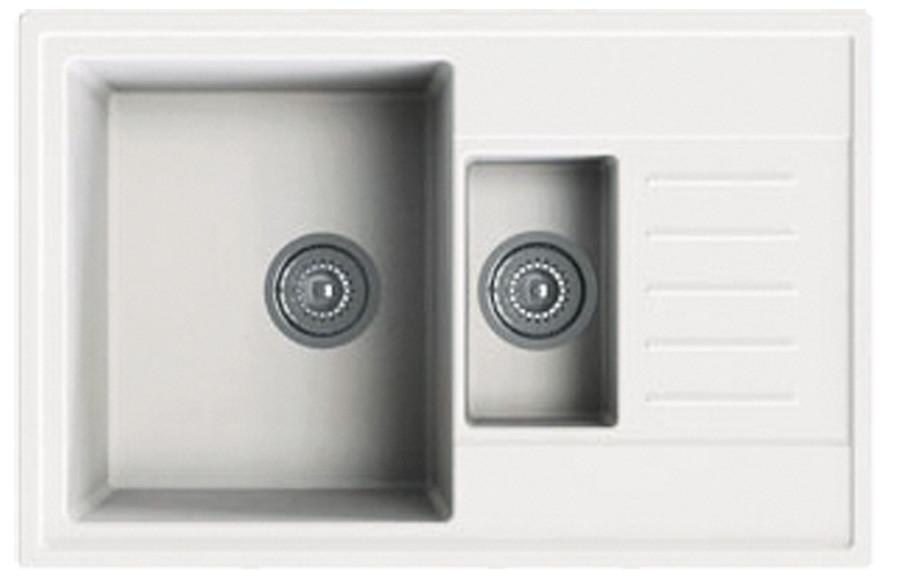Кухонная мойка из кварца  ORIVEL Quadro plus 1,5D (780x500мм)