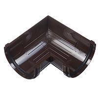 Угол желоба 90° универсальный, коричневый, Docke Standart, фото 1