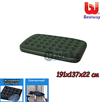 Полуторный надувной матрас Bestway 67448, размер 191x137x22 см