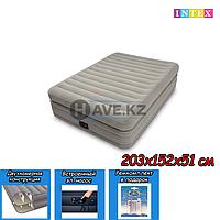 Двухспальный надувной матрас Intex 64446, размер 203х152х51 см, фото 1