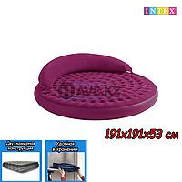 Двухспальный надувной матрас Intex 68881, размер 191х191х53 см, фото 1