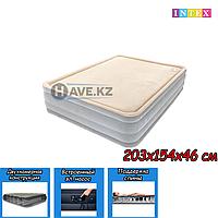 Двухспальный надувной матрас Intex 67486, размер 203x152x46 см, фото 1