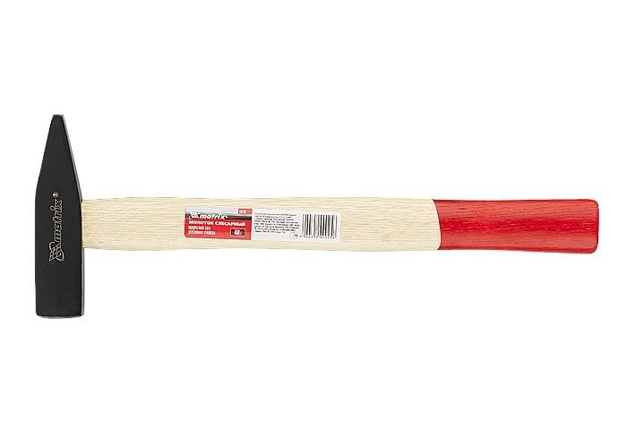 (10232) Молоток слесарный, 500 г, квадратный боек, деревянная рукоятка// MATRIX