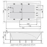 Акриловая ванна Poolspa Fantazy 185х115 , фото 3