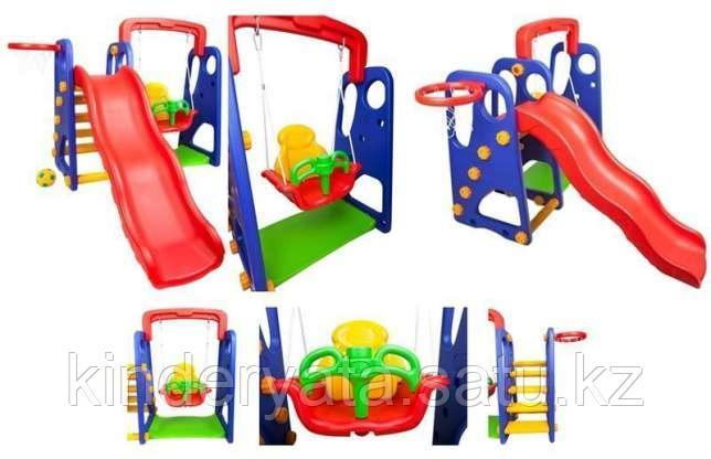 Детский игровой комплекс(горка с качелей)