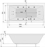 Акриловая ванна Poolspa Vita 180x90 , фото 3