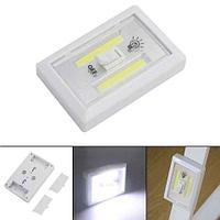 Светильник светодиодный на батарейках в виде выключателя освещения (с двумя светодиодными лентами)