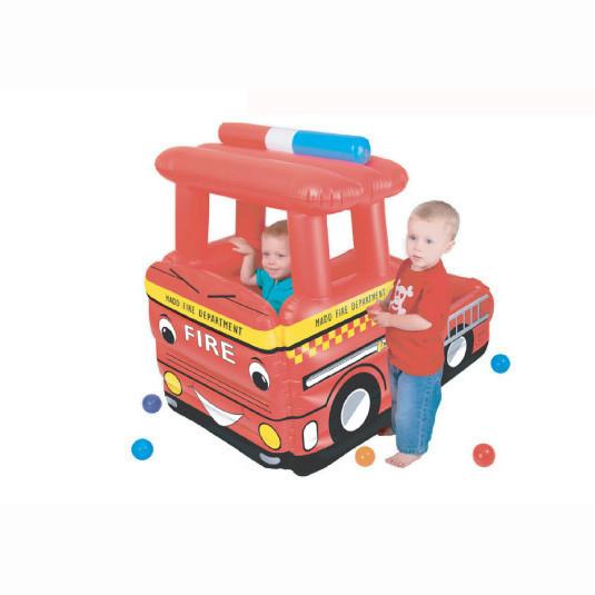 Сухой бассейн Upright Пожарная машина + 50 шаров
