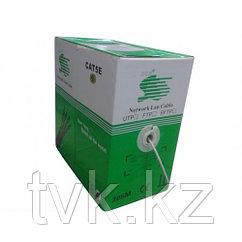 Кабель для компьютерных сетей Cable UTP-5e cat Lan Cable SCS 24AWG, серый, 305 м