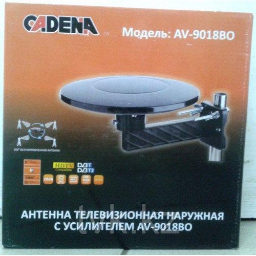 Антенна телевизионная комнатная с усилителем Cadena DVB-T9018BQB