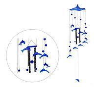 """Музыка ветра """"Дельфины"""" 4 трубочки, 11 фигурок"""
