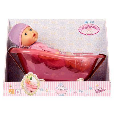 Кукла Baby Annabell Кукла твердотелая с ванночкой 30 см.
