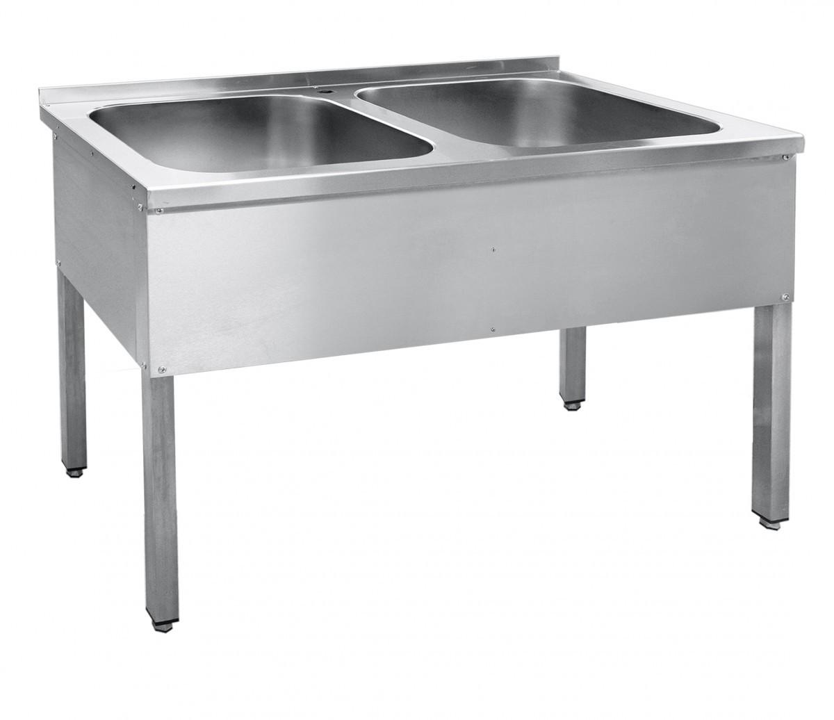 Ванна моечная двухсекционная ВМП-6-2-5РЧ (каркас крашеный)